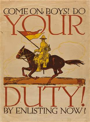 VOJTECH PREISSIG (1873-1944). COME ON, BOYS! DO YOUR