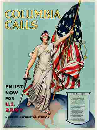 FRANCES ADAMS HALSTEAD (1873-?). COLUMBIA CALLS. 1916.