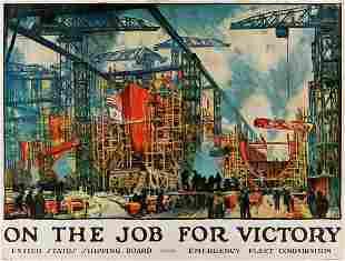 JONAS LIE (1880-1940). ON THE JOB FOR VICTORY. Circa