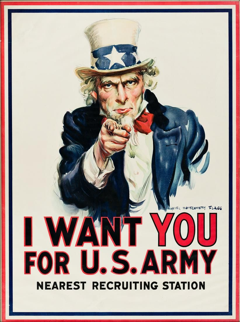 JAMES MONTGOMERY FLAGG (1870-1960). I WANT YOU FOR U.S.