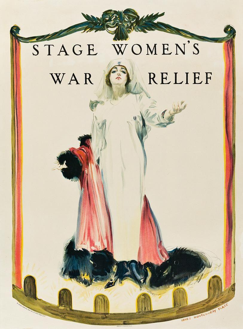JAMES MONTGOMERY FLAGG (1870-1960). STAGE WOMEN'S WAR
