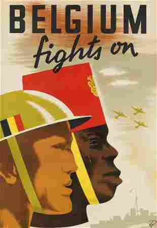 R.O. (DATES UNKNOWN). BELGIUM FIGHTS ON. Circa 1940.