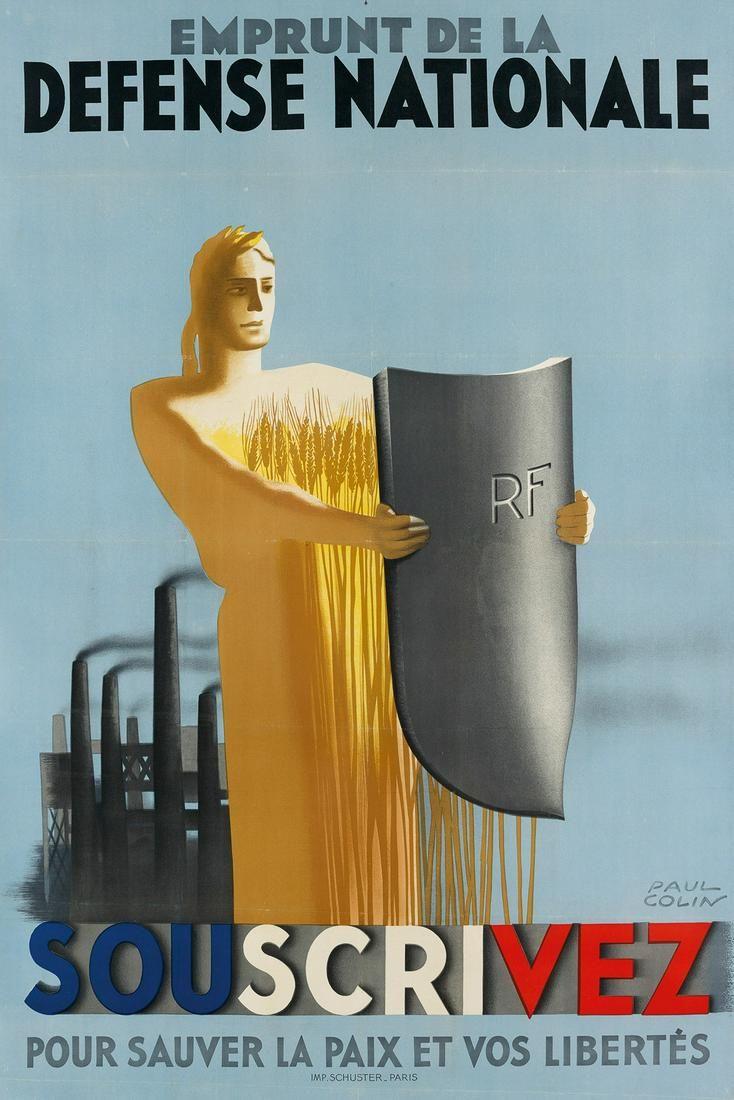 PAUL COLIN (1892-1986). EMPRUNT DE LA DEFENSE NATIONALE