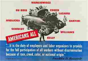 DESIGNER UNKNOWN. AMERICANS ALL / FRANKLIN D.