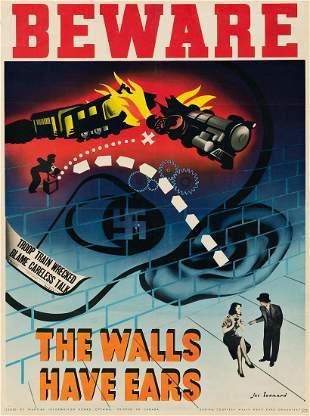JAC LEONARD (1904-1980). BEWARE / THE WALLS HAVE EARS.