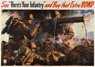 """JES SCHLAIKJER (1897-1982). SEE """"HERE'S YOUR INFANTRY"""""""