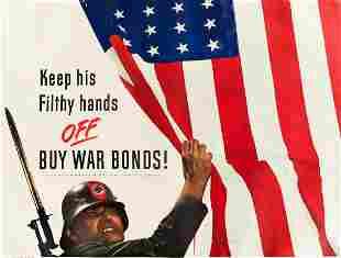 DESIGNER UNKNOWN. KEEP HIS FILTHY HANDS OFF / BUY WAR