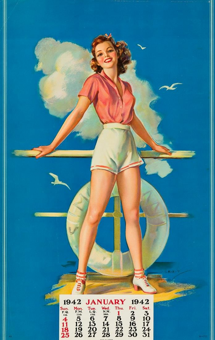 VARIOUS ARTISTS. [PIN - UP GIRLS]. Group of 17