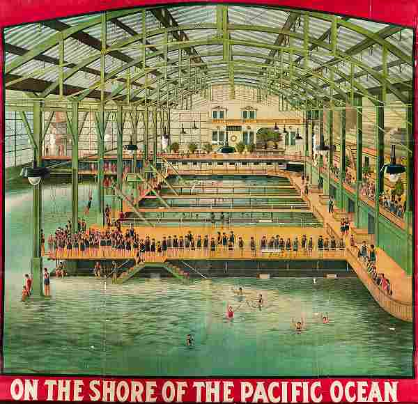 DESIGNER UNKNOWN. [SUTRO BATHS] / ON THE SHORE OF THE