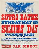 DESIGNERS UNKNOWN. SUTRO BATHS. Group of 7 broadsides.