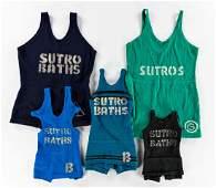DESIGNERS UNKNOWN. SUTRO BATHS. Group of five original