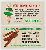 DESIGNERS UNKNOWN. SUTRO BATHS / [ICE SKATING.] Group