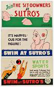 DESIGNERS UNKNOWN. SUTRO BATHS. Group of 12 trolley