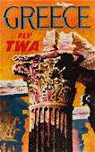 DAVID KLEIN (1918-2005). FLY TWA. Group of 6 posters.