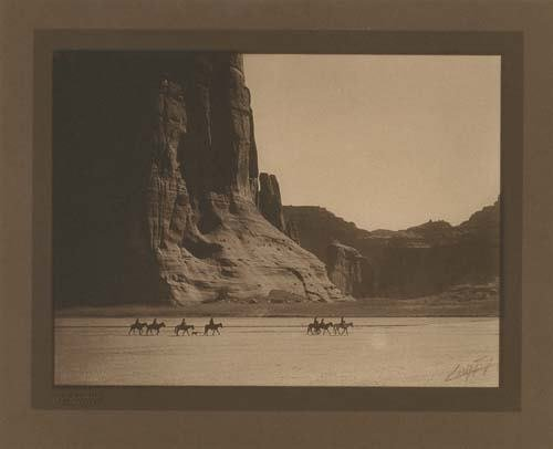 """2033018: CURTIS, EDWARD S. (1868-1952) """"Canon de Chelly"""