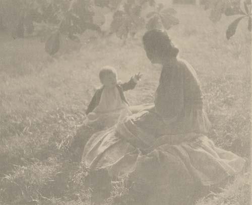 "2033022: STEICHEN, EDWARD J. (1879-1973) ""Mother and Ch"