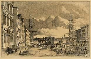 ALFRED R. WAUD Wall Street Ferry, New York.