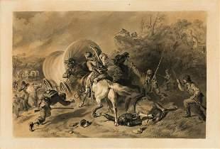 FELIX OCTAVIUS CARR DARLEY An Attack on a Wagon Train.
