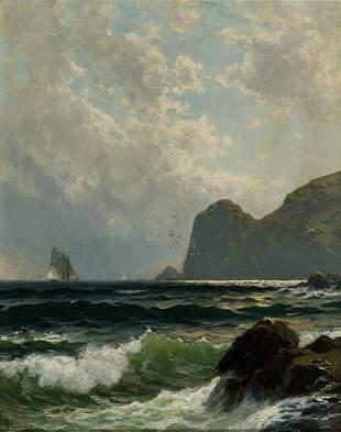 ALFRED THOMPSON BRICHER Schooner off the Coast,