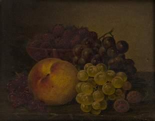 WILLIAM MASON BROWN Still Life with Fruit.