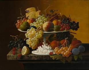 SEVERIN ROESEN Still Life with Fruit.