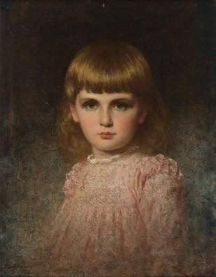 EASTMAN JOHNSON Portrait of May Valentina Stern Harlow