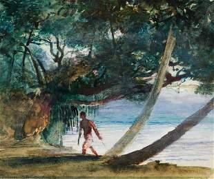 JOHN LA FARGE Reminiscence of Sunset, Tahiti, near