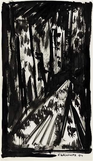 ABRAHAM WALKOWITZ Abstract Cityscape.