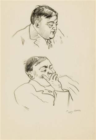 PEGGY BACON Portrait Studies of Fiorello La Guardia.