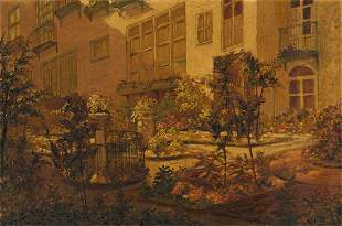 LOUIS SAPHIER View of the Garden at St John8217s in