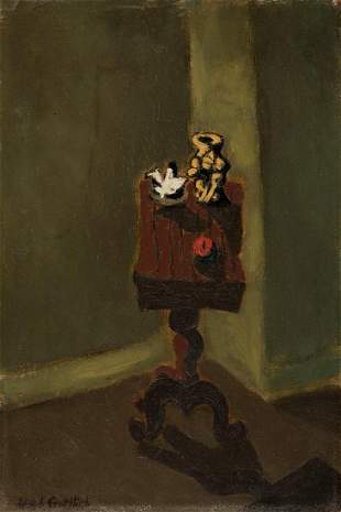 ADOLPH GOTTLIEB Untitled (Interior with a Table).