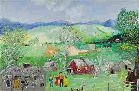 ANNA MARY ROBERTSON (GRANDMA) MOSES Happy Days.