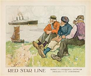 Henri Cassiers (1858-1944). RED STAR LINE.