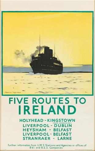 Norman Wilkinson (1882-1971). FIVE ROUTES TO