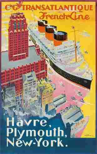 Albert Sebille (1874-1953). FRENCH LINE / HÂVRE,