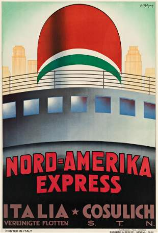 Giovanni Patrone (1904-1963). NORD = AMERIKA EXPRESS /