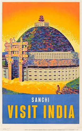 Designer Unknown SANCHI VISIT INDIA Circa 1950s