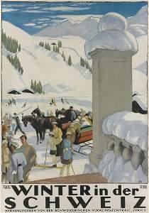 Emil Cardinaux (1877-1936).  WINTER IN DER SCHWEIZ.