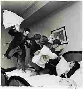 HARRY BENSON (1929- ) The Beatles, Pillow Fight, Paris.