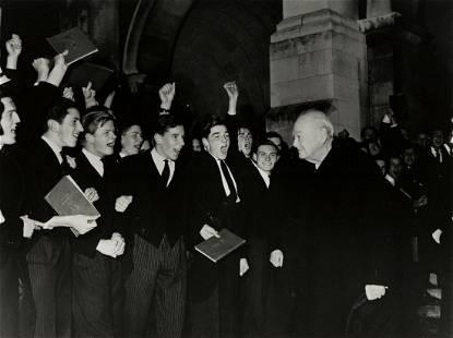 HARRY BENSON (1929- ) Sir Winston Churchill at Harrow