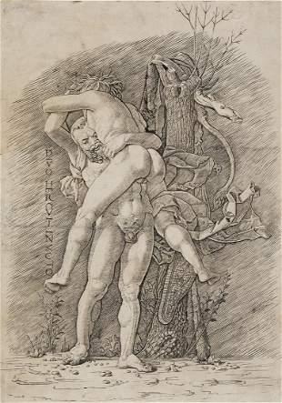 ANDREA MANTEGNA (school of) Hercules and Antaeus