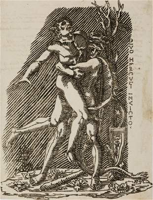 ITALIAN SCHOOL, 16TH CENTURY Hercules and Antaeus.