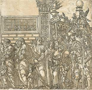 ANDREA ANDREANI after Mantegna The Triumph of Julius