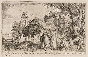 JACOB DE GHEYN II Set of Six Landscapes