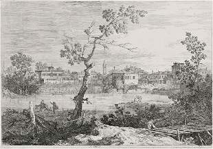 ANTONIO DA CANAL IL CANALETTO View of a Town on a