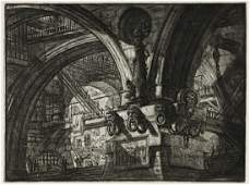 GIOVANNI B. PIRANESI Three etchings with engraving from