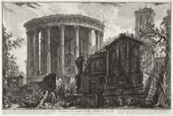 GIOVANNI B. PIRANESI Group of 4 etchings from Veduta di