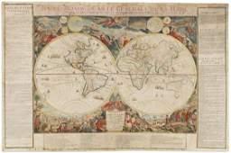 DANET, GUILLAUME; after DE FER, NICOLAS. Mappe-Monde ou
