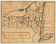 (MANUSCRIPT SCHOOL MAP.) Lamb, Frances H. New York.