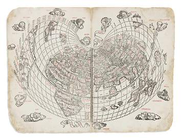 SYLVANUS, BERNARDUS. [Untitled World Map.]